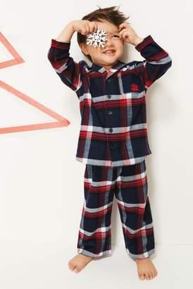Next Boys Red Check Button Through Pyjamas (12mths-8yrs)
