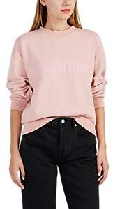"""Cynthia Rowley WOMEN'S """"WELCOME TO PARADISE"""" FRENCH TERRY SWEATSHIRT - PINK SIZE L"""