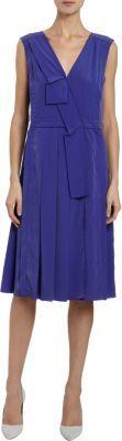 Marc Jacobs Pleated V-Neck Sleeveless Dress
