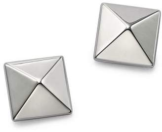 Bloomingdale's 14K White Gold Large Pyramid Earrings - 100% Exclusive