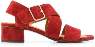 Chie Mihara cross strap sandals