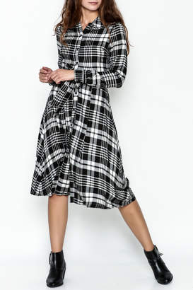 Jealous Tomato Plaid Shirt Dress