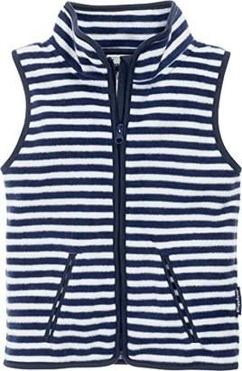 Playshoes Boy's Kids Sleeveless Full Zip Fleece Vest Maritime Striped Gilet,(Size:140)