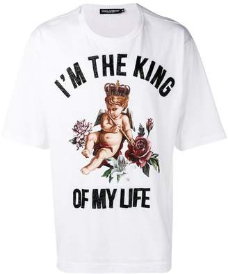Dolce & Gabbana I'm The King embellished T-shirt