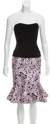 Mary Katrantzou Flared Strapless Dress Black Flared Strapless Dress