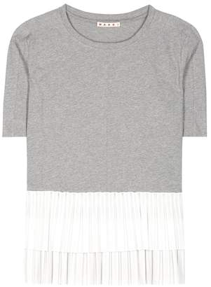Marni Ruffled cotton T-shirt