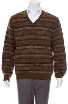 Ralph Lauren Purple Label Cashmere Patterned Sweater