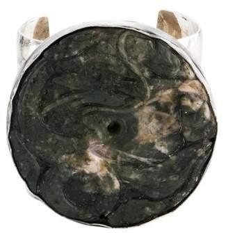 Dragon Optical Rebecca Collins Carved Nephrite Cuff