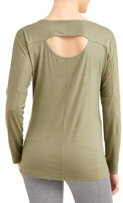 Athletic Works AW SOFT OPEN BACK LS TEE