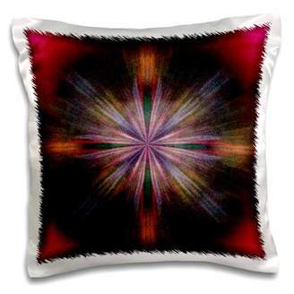 3dRose A tie dye effect of colors that are associated with movement - Pillow Case, 16 by 16-inch