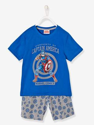 Vertbaudet Boys' Printed Pyjamas with Shorts, The Avengers