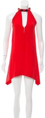 Vena Cava Silk Halter Dress