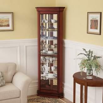 Three Posts Hollingdon Lighted Corner Curio Cabinet