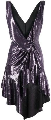 Philosophy di Lorenzo Serafini sequin plunge mini dress