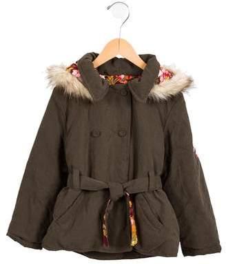 Kenzo Girls' Long Sleeve Coat