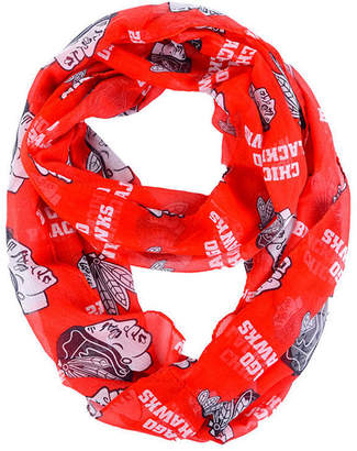 Forever Collectibles Chicago Blackhawks All Over Logo Infinity Wrap Scarf