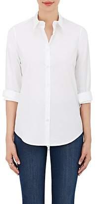 Barneys New York Women's Cotton Poplin Button-Front Shirt - White