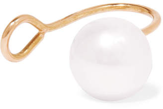 Saskia Diez Gold Pearl Ear Cuff