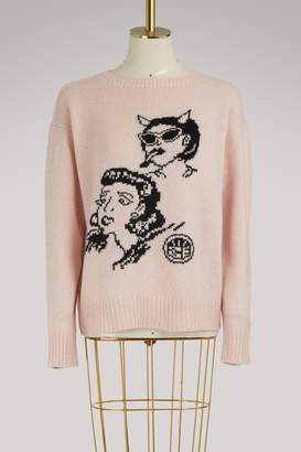 Prada Comics cashmere sweater