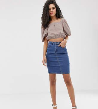 9b6146b0a7 High Waisted Denim Pencil Skirt - ShopStyle UK