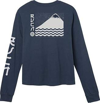 RVCA Junior's Sea Mount Long Sleeve T-Shirt