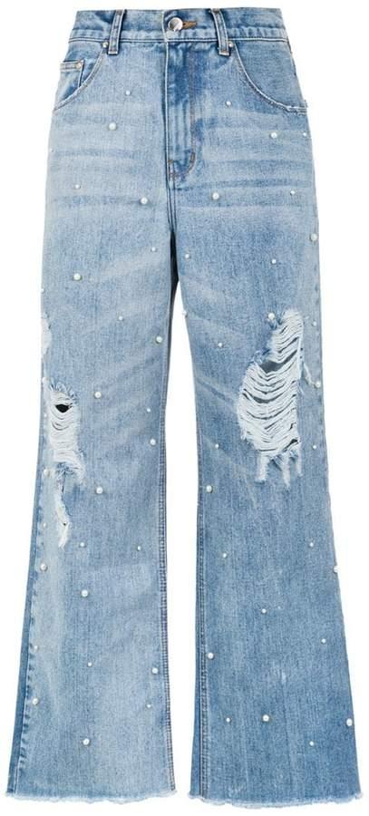 Amapô Pérola palazzo jeans