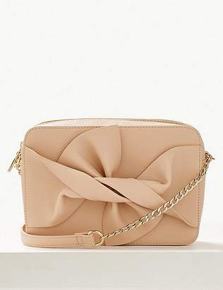 Marks and Spencer Faux Leather Bow Cross Body Bag