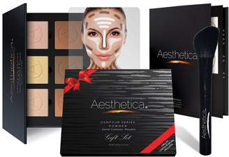 Aesthetica Cosmetics Contour Kit & Angled Contour Brush 2-Piece Gift Set