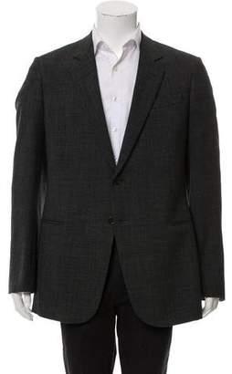 Armani Collezioni Textured Two-Button Blazer