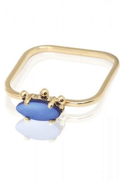 Styleserver DE Sabrina Dehoff Ring mit blauem Perlmuttstein 56