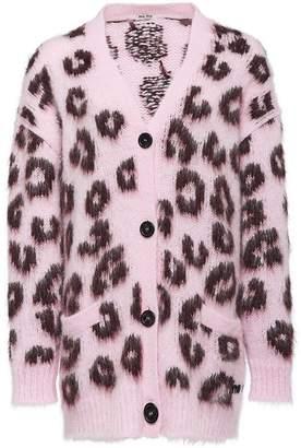 Miu Miu leopard intarsia cardigan