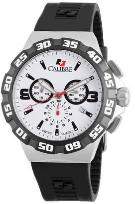 Lancer Calibre 44mm Men's Chronograph Watch w/ Rubber Strap, White