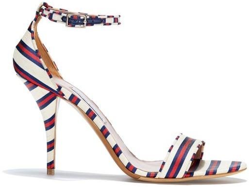 Tabitha Simmons Poppy High Heel Stripe Sandal