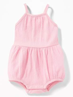 Old Navy Crinkle-Jersey Ruffle-Back One-Piece for Baby