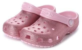 Crocs (クロックス) - LOCONDO クロックス CROCS ジュニア (キッズ・子供) クロッグサンダル Classic Glitter Clog Kids 205441-682 ミフト mi