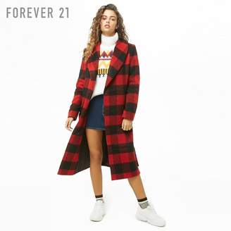 Forever 21 (フォーエバー 21) - Forever 21 バッファローチェックロングコート
