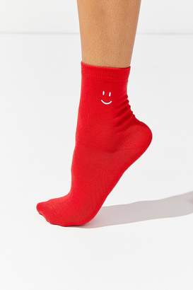 Urban Outfitters Smiley Crew Sock