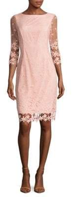 NUE by Shani Floral Lace Overlay Dress