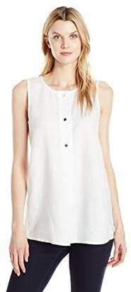 Ellen Tracy Women's Linen Button Tunic