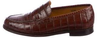 John Lobb Campus Crocodile Loafers