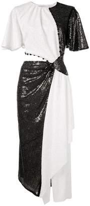Prabal Gurung asymmetric sequined dress