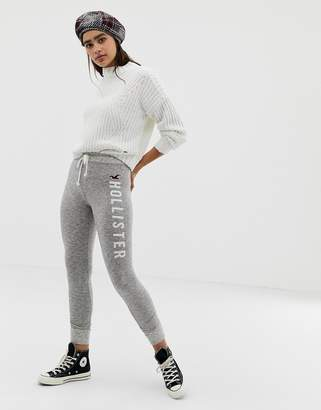 Hollister cozy skinny joggers with large logo