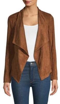 BB Dakota Nicholson Faux Suede Draped Jacket