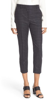 Women's Theory 'Treeca 2 Brisk Check' Wool Blend Cigarette Pants $285 thestylecure.com