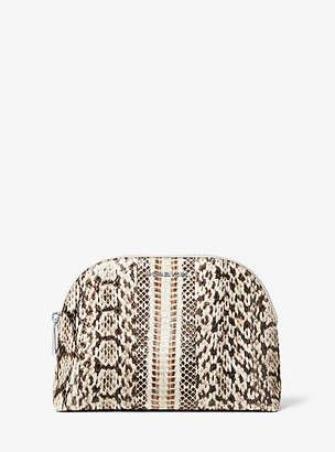 Michael Kors Large Snakeskin Travel Pouch