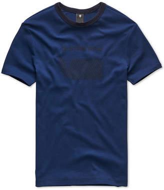 G Star Men's Oversized Stripe Logo T-Shirt