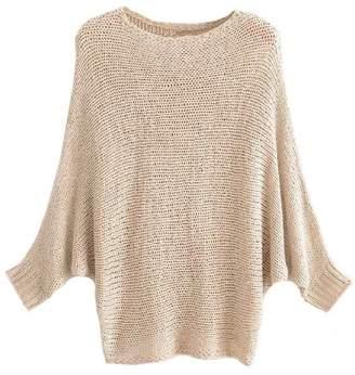 Goodnight Macaroon 'Akela' Bat-Sleeved Crewneck Sweater (2 Colors)