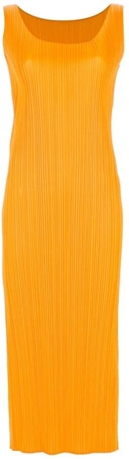 Issey Miyake crepe ribbed dress