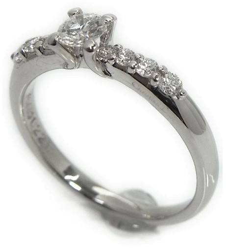 Christian Dior  Christian Dior 950 Platinum Diamond Ring Size 5.25
