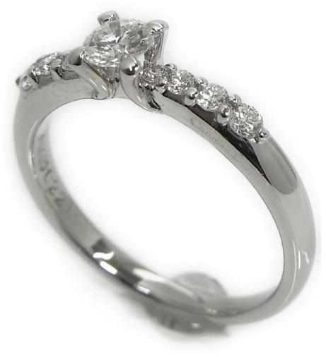 Christian Dior Christian Dior 950 Platinum Diamond Ring Size 5.25